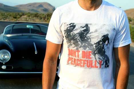 Tenaciously Agressive Battle T-Shirts - The 'Don't Die Peacefully' Shirt Encourage