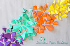 3D Geometric Wall Decals - Add Texture and Color to Your Decor with This Fun DIY Tutorial