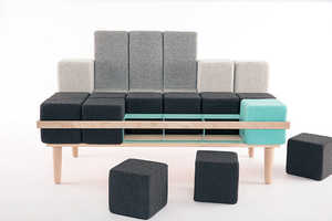Bloc'd Sofa is Assembled from an Assortment of Different Cushion