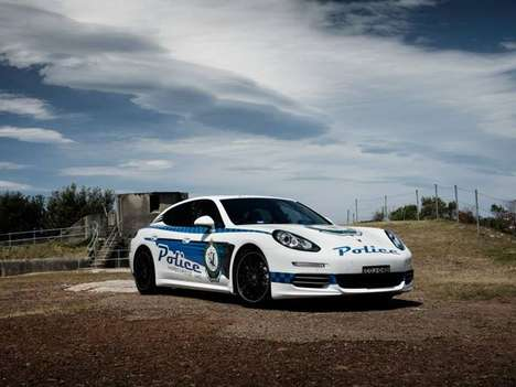 Luxe Aussie Cop Cars - The Porsche Panamera Police Car Strikes Fear into Sydney Speeders