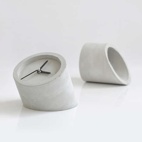 Concrete Pipe Clock