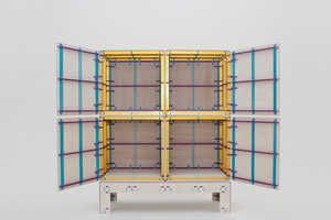 The Wrong Colour Furniture System is Assembled with Color-Coded Bars