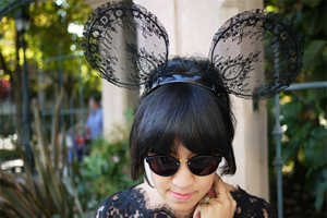 Add Lace to a Mickey Mouse Ear Design to Create a Stylish Hair Accessory
