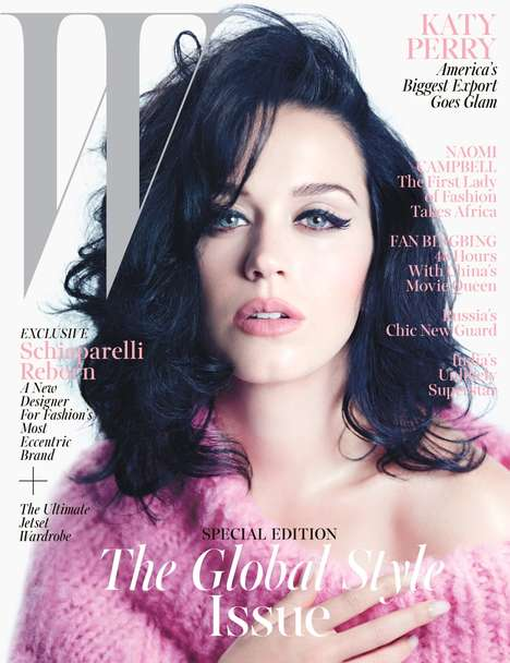 Retro Pop Starlet Editorials - The W Magazine November 2013 Spread Showcases a Retro Katy Perry
