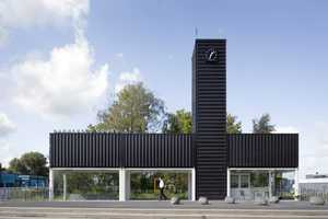The Barneveld Noord Train Station Has a Simple but Strong Presence