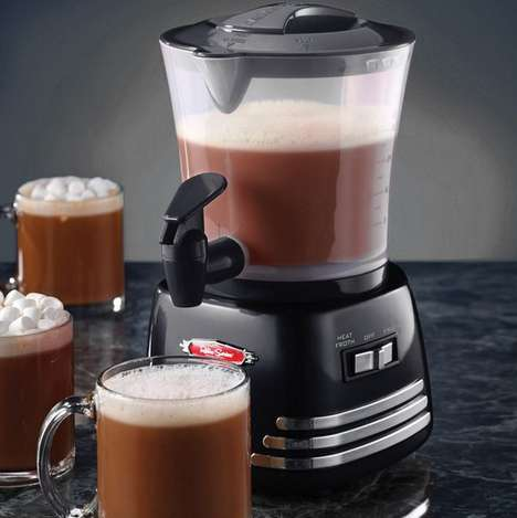 Delightful Cocoa Beverage Makers - The Retro Series Hot Chocolate Maker Will Sweeten Every Morning
