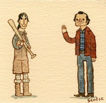Adorably Amicable Standoff Illustrations - Scott Campbell