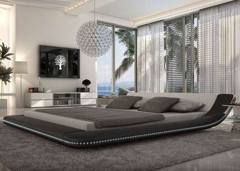 Hi-Tech Platform Beds - Tosh Furniture Introduces a Futuristic Sleeper Lined with LEDs