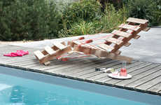 Upcycled Wooden Pallet Loungers