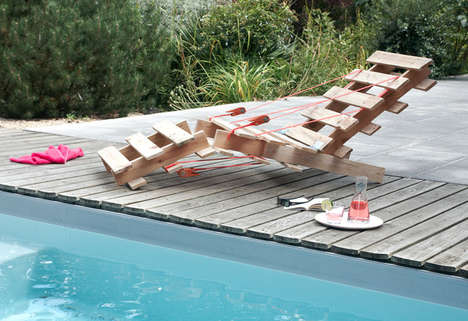 Upcycled Wooden Pallet Loungers - M&M Designers' Pallet Lounge Chair is Cleverly Crafted