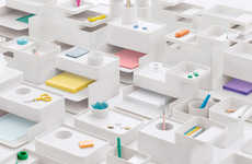 Mimialist Desktop Storage Systems - Formwork by Herman Miller Cuts Work Desk Clutter Down