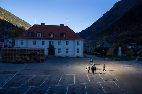 Sun-Stealing Art Projects - Martin Andersen Uses Heliostats to Bring Light to a Small Norwegian Town