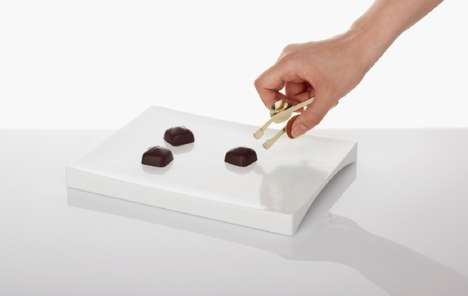 Elegant Truffle Tongs - Finger Play Provides You with the Delicate Tools for Dealing with Chocolates