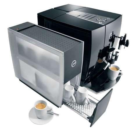 Mug-Warming Coffee Machines - The Jura Cup Warmer Keeps Coffee Cups Toasty