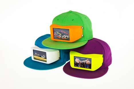 Picture-Projecting Snapbacks - Show Your Favorite Videos to the World Using the Cyclops Cap
