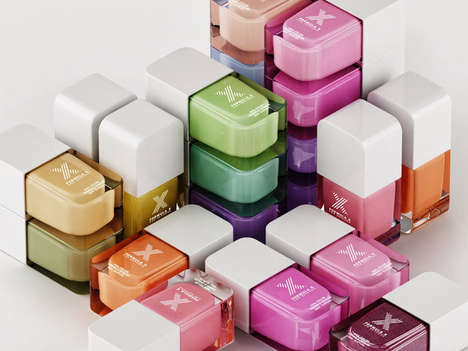 Cubed Nail Polish Collections - The Formula X for Sephora Collection of Nail Varnish is Neatly Cubed
