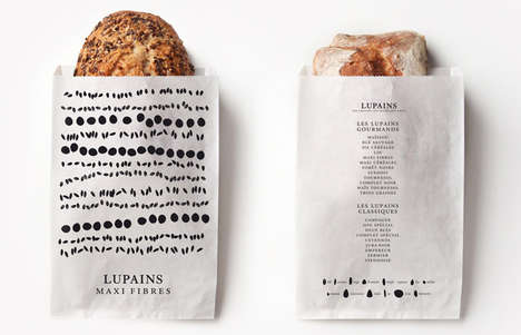 Seed-Speckled Packaging - Lupains Bread Branding Lightheartedly Celebrates the Cereal Ingredients