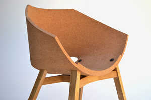 The Corkigami Chair Combines a Cork Material with a Chair Design