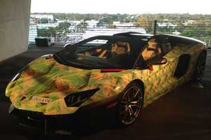 The Lamborghini Aventador King's Pride Celebrates LeBron's New Shoe