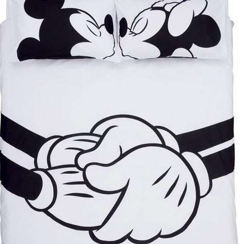 Romantic Disney Bedding - Fall Asleep Beside Mickey or Minnie Under This Couple
