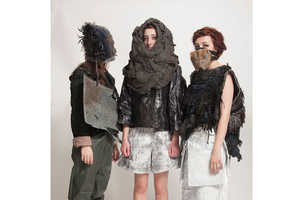 Grace Kubilius' Recycled Material Clothing is Made to Break Down