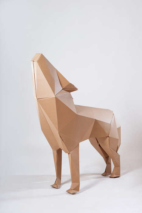 Geometric Cardboard Sculptures - The Red Cape Project Uses Cardboard to Communicate Its Message