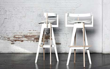 Curvaceous Director Chairs - The Xemei Stool Combines Function and Art in a Modern Stool Chair