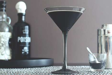 Ink-Infused Halloween Cocktails - Halloween Cocktails are a Tasty Treat to Top Off the Season