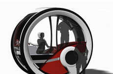 Wheel-Encapsulated Cars - The Infinitlar Autonomous Vehicle is a Pod for Transport and Living