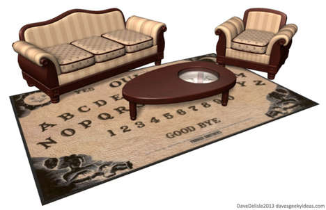 Spirit-Summoning Furniture - The Ouija Board Coffee Table and Carpet Makes Your Space Creepy