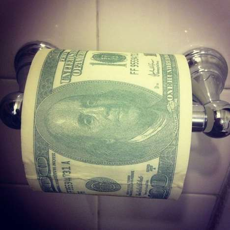 Big Spender Toilet Paper - This 100 Dollar Bill Toilet Paper Will Make You Feel Like a High Roller