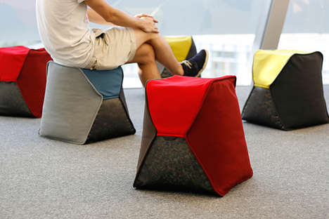 Eco Greenbag Chairs - The PP Capsule is Manufactured from 100% Recycled Materials, Inside and Out