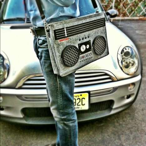 Retro Boombox Bags - The Boombox Bag WIll Spin You Right
