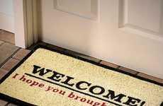 Cheeky Booze-Demanding Doormats - The I Hope You Brought Beer Doormat Requires Booze for Entry