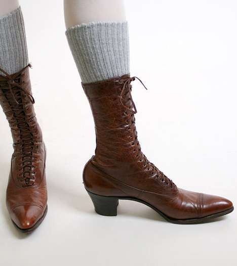 Victorian Sorceress Leather Booties - Leather Booties are the Cherry on Top of a Victorian Costume