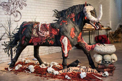 Gruesome Monstrous Animal Desserts - The Devil Horse Cake is Too Terrifying to Eat