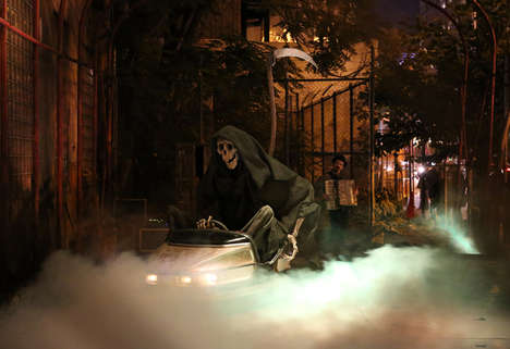 Grim Reaper Art Installations - Banksy Celebrates with a Halloween-Themed Art Installment