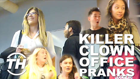 Killer Clown Office Pranks - Trend Hunter Pranked Its Employees First Thing in the Morning