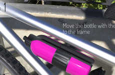 Bicycle-Bound Canteens - The Universal Bike Bottle Latches Itself Directly to Your Top Tube