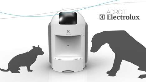 Hi-Tech Pet Feeders - The Electrolux Adroit Ensures that Fido Gets Fed When You're Away From Home