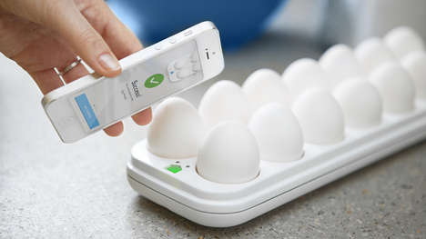 Eggceptional Culinary Devices - The Egg Minder Keeps Track of the Number of Shells and the Freshness