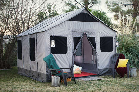 House-Like Camps - The Safari Tent Provides Enough Room for an Entire Family