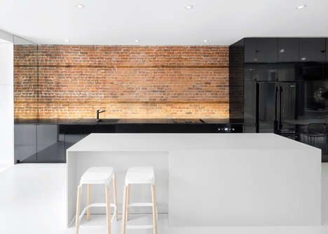 Contrast-Heavy Urban Apartments - This Montreal Apartment is a Metropolitan Dream