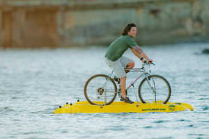 The 'Baycycle' Water Bicycle Makes Cycling on Water an Option