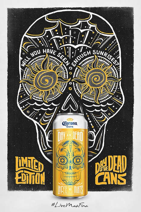 Life-Celebrating Beer Cans - Corona's Limited-Edition Beer Cans Pay Tribute to the Day of the Dead