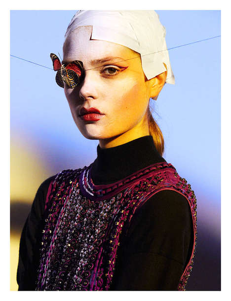 Fashionable Metamorphosis Editorials - The Numero 148 Photoshoot Stars Caroline Brasch Nielsen