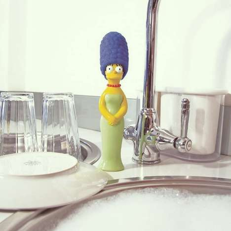 Iconic Cartoon Character Sponges - The Marge Simpson Sponge Puts Her Famous Hairdo to Work