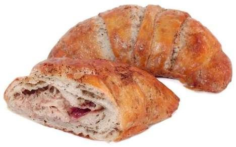 Turkey Meal Pastries - The Thanksgiving Croissant is a Compact Treat for the Holiday