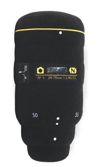 Comfy Camera Lens Pillows - A Nikon-Inspired Lens Plush Makes an Awesome Gift for Photographers