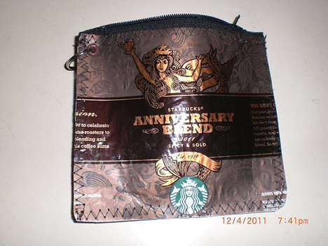 Iconic Coffee Brand Purses - This Starbucks Coin Purse is an Eco-Friendly Fashion Statement